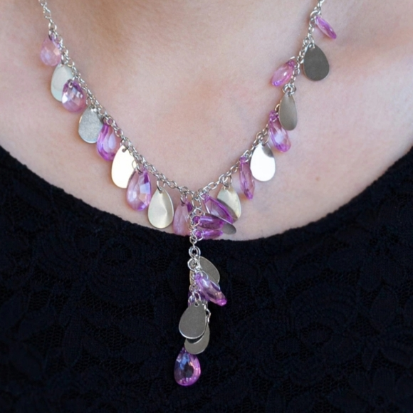 paparazzi Jewelry - Purple necklace/earrings are